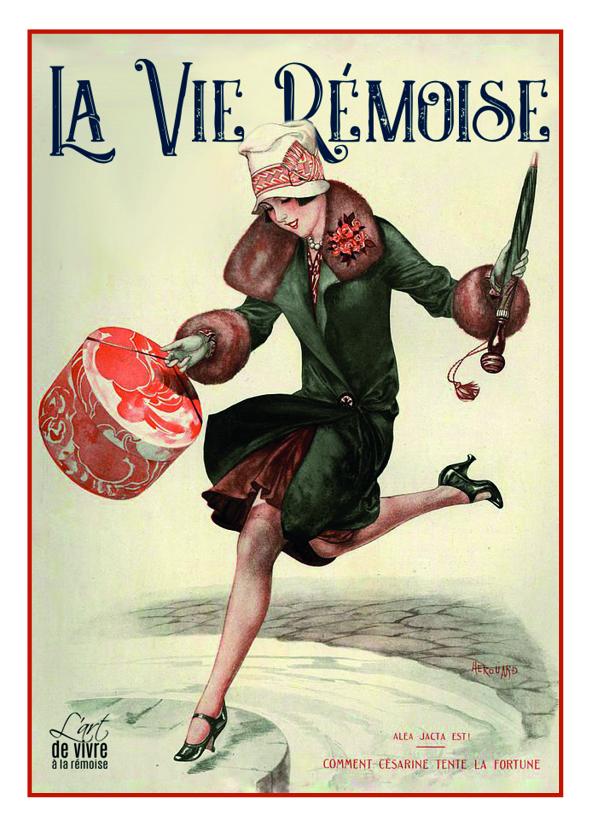 """Carte postale """"Rémoise 1920 - la couse"""""""