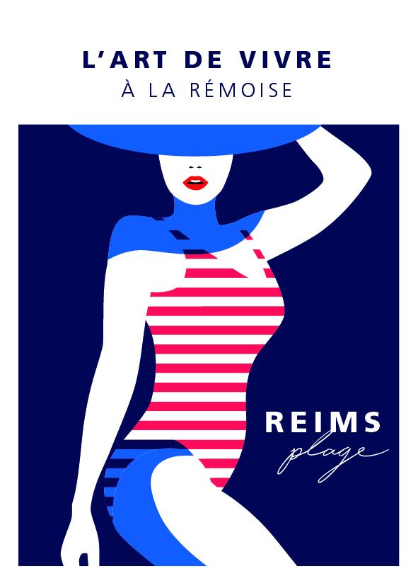 "Carte postale ""Reims Plage"""