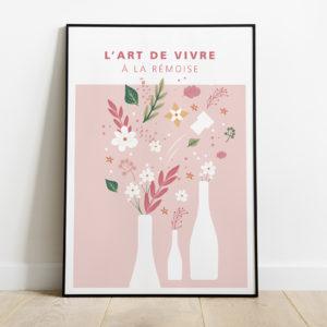 """Mockup - Affiche """"Bouquet champenois - été"""""""