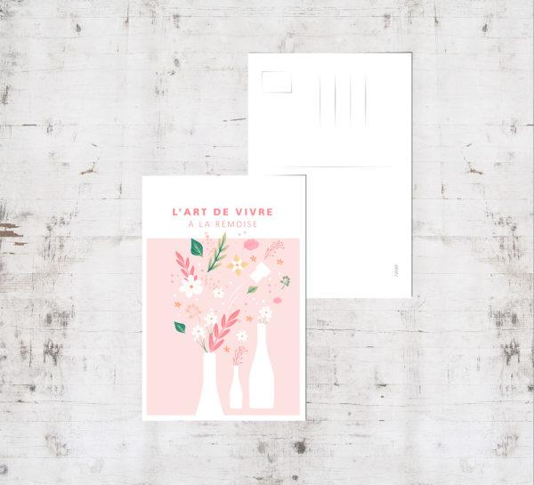 """Mockup - Carte postale """"Bouquet champenois - été"""""""