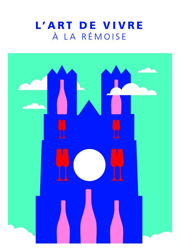 """Carte postale """"Cathédrale - été"""""""