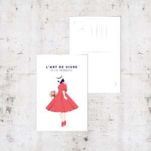 """Mockup - Carte postale """"La rémoise"""""""