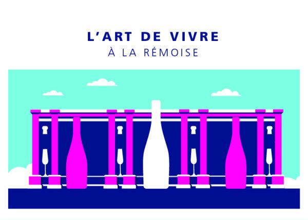 "Carte postale ""Porte Mars - été"""