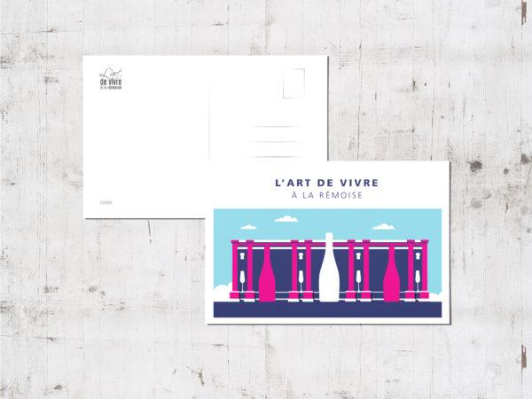 "Mockup - Carte postale ""Porte Mars été"""