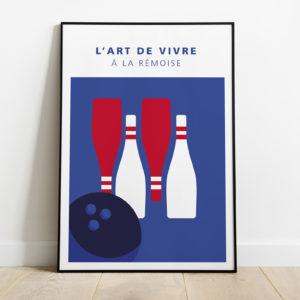 "Mockup - Affiche ""Champagne bowling"""
