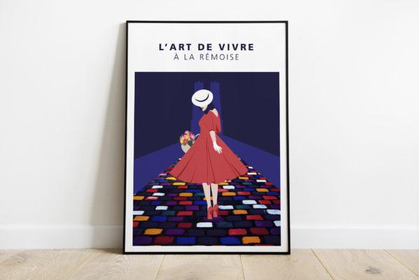 """Mockup - Affiche """"La rémoise rue du Tambour"""""""