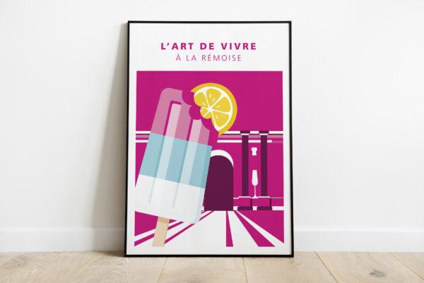"""Mockup - Affiche """"Les glaces de la Porte Mars"""""""