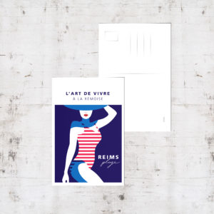 "Mockup - Carte postale ""Reims Plage"""