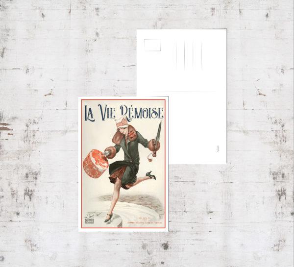 "Mockup - Carte postale ""Rémoise 1920 - la couse"""