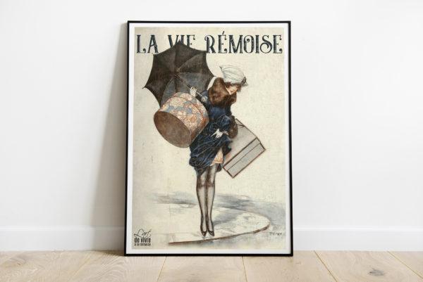 """Mockup - Affiche """"Rémoise 1920 sous la pluie"""""""