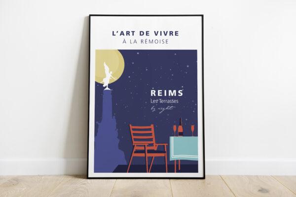 Reims by night lune jaune